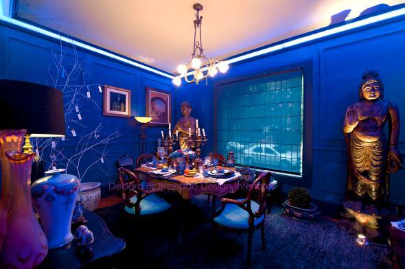 Vitrine Jantar Azul - 11ª Amostra Casa Clássica Antiquario Ravioli Casa Débora Bz Brandão Design Interiores 3