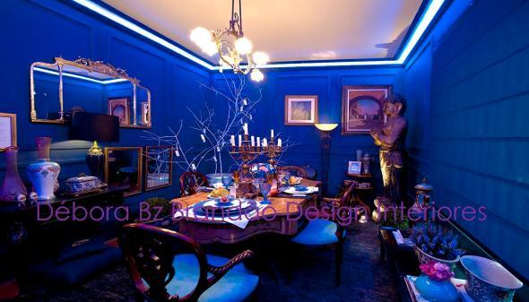 Vitrine Jantar Azul - 11ª Amostra Casa Clássica Antiquario Ravioli Casa Débora Bz Brandão Design Interiores