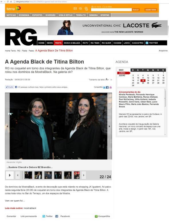 Mostra Black Agenda Black RG